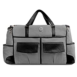 Lencca Alpaque Duffel - BLACK & GREY Luggage Laptop Bag for Apple MacBook Pro 13in/ Apple MacBook Air 13in (1 Year Replacement Guarantee)