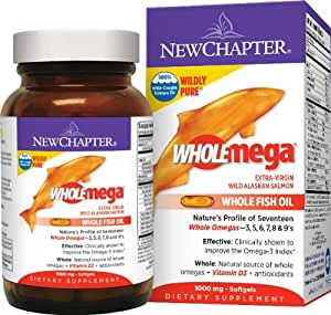 New Chapter Wholemega Whole Fish Oil, 120 Softgels