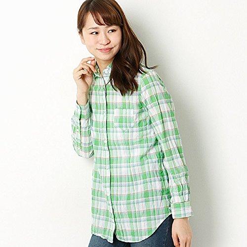 アールユー(ru) シャツ(カシュクールチェックシャツ)【グリーン/11(L)】