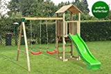 Spielturm mit Rutsche und Doppelschaukel - Julia -