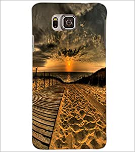 PrintDhaba Sunset D-2379 Back Case Cover for SAMSUNG GALAXY ALPHA (Multi-Coloured)