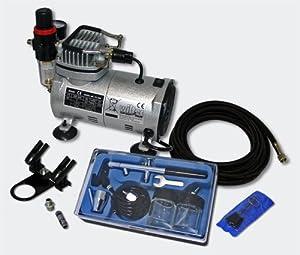 Einsteiger Airbrush Kompressor Set mit 1 Airbrushpistole AS182  GartenBewertungen und Beschreibung