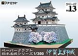 ペーパークラフト 日本名城シリーズ 1/300  伊賀上野城