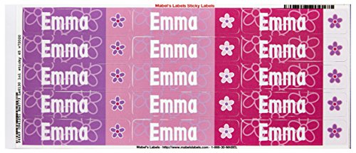 Mabel'S Labels 40845139 Peel And Stick Personalized Labels With The Name Emma And Flower Icon, 45-Count front-838059