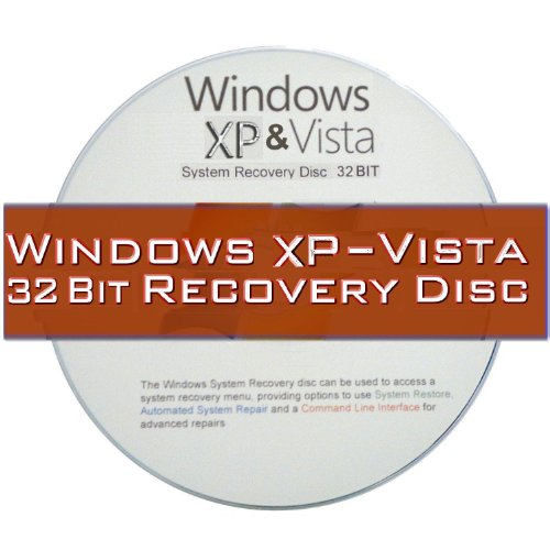 Windows XP and Vista 2 Disc Recovery Set for 32 Bit systems