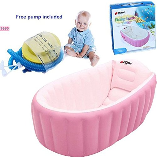L&FY Inflatable Baby bathtub Plastic Mini Air Swimming Pool Kids ...