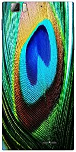 Snoogg Peacock Feather Closeup Designer Protective Back Case Cover For Lenovo...