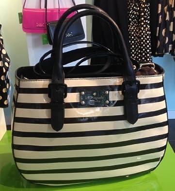 Kate Spade New York Carlisle Street Sylvie Handbag Black Striped