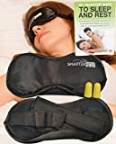 Eye Mask Sleep Mask for Men and Women - ON MASSIVE PROMOTION - Sleeping Mask for Night REM Sleep, Travel, Nap, Yoga, Meditation - Reduces Dry Eyes, Puffy Eyes, Apnea, Keeps Cold, Better than Gel Eye Mask - Silk & Cotton, Memory Foam Ear plugs, Free Ebook - Satisfaction Guaranteed