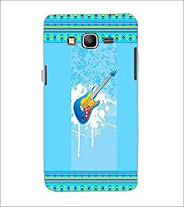 PrintDhaba Guitar D-3555 Back Case Cover for SAMSUNG GALAXY GRAND PRIME (Multi-Coloured)