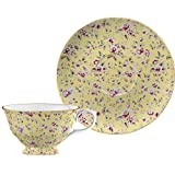 Creative Tops Katie Alice Ditsy Floral Fine Bone China Cup and Saucer Yellow