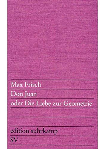 Don Juan, Oder Die Liebe Zur Geometrie (German Edition)