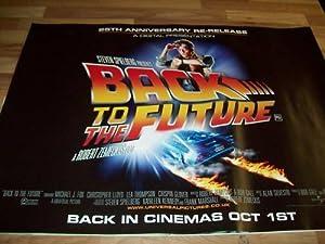 BACK TO THE FUTURE Original 25th Anniversary Cinema Quad Poster rare reissue MINT