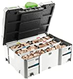 Festool 498899 Assorted Domino Beech Tenons and Cutters in T-Loc Systainer