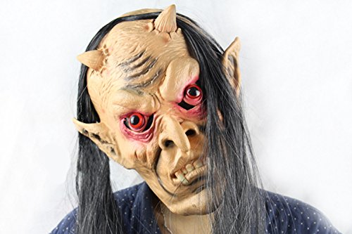 Funny -home Hallowmas scary mask creepyparty longhair redeye demon
