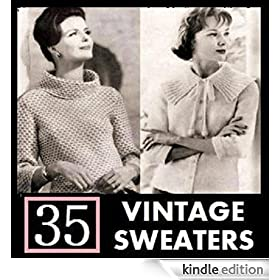 35 Vintage Sweater Knitting Patterns from the 1940's - 1960's. Knit Sweaters, Cardigans, and Jackets.