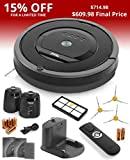 iRobot Roomba 880 Vacuum Cleaning Robot For Pets and Allergies + 3 Side Brushes (These items are used together)
