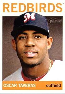 2013 Topps Heritage Minor League Baseball Card # 200 Oscar Taveras Memphis Redbirds by Topps