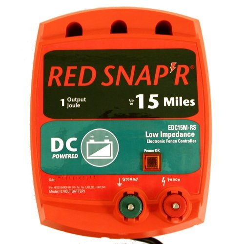 Red Snap'R Edc15M-Rs 15-Mile Battery Operated Low Impedance Fence Charger Outdoor/Garden/Yard Maintenance (Patio & Lawn Upkeep)