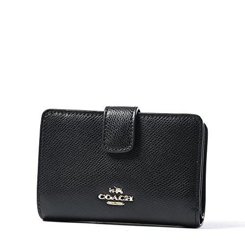 coach-f53436-cross-grain-leather-medium-corner-zip-wallet-and-coin-purse-black