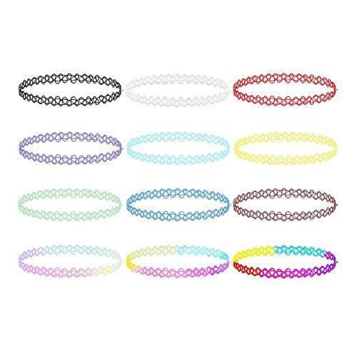 fenical-12pcs-collier-gothique-chaine-double-ligne-tatouage-au-henne-choker-necklace-stretch-elastiq