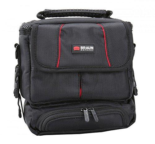 Sparset Kameratasche Braun Asmara 600 Tasche schwarz + Ersatzakku DMW-BLC12E + 16GB SD Karte + Stativ für Panasonic Lumix DMC-FZ200, DMC-G5 mit14-42mm Objektiv