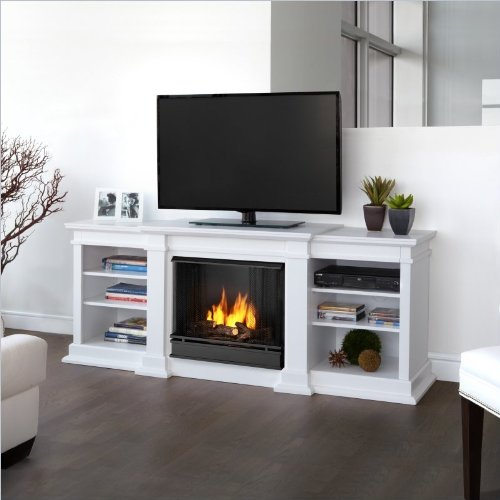 Lowest Price! Real Flame Fresno Ventless Gel Fireplace - White