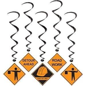 Construction Whirls  (5/Pkg)