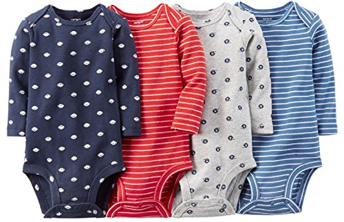 Carter's Baby Boys' 4 Pack Heather Bodysuits (Baby) (18 Months, Sports)
