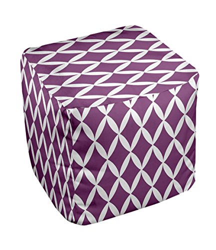 E by design FG-N1-Purple-18 Geometric Pouf
