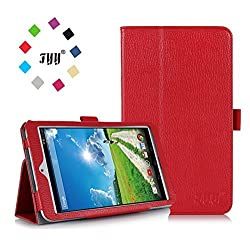 [Corner Protection] Acer Iconia B1-730HD 7-Inch Case Cover, FYY Premium Soft Folio PU Leather Case for Acer Iconia B1-730HD 7-Inch Red