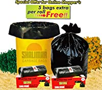 Shalimar Virgin Garbage Bags (Small) Size 43 cm x 51 cm 6 Rolls (180+30 BAGS FREE) (Trash Bag/ Dustbin Bag)
