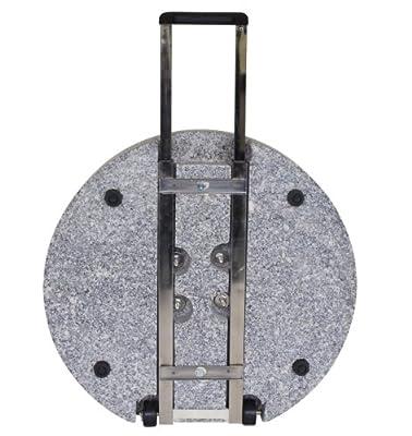 Schirmständer mit Rollen aus massivem Granit grau, 60kg rund von gartenmoebel-einkauf auf Gartenmöbel von Du und Dein Garten
