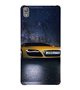 Printvisa Sporty Yellow Audi Back Case Cover for Sony Xperia E5