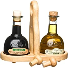 Colavita Extra Virgin Olive Oil and Balsamic Vinegar Cruet Sets Pack of 3