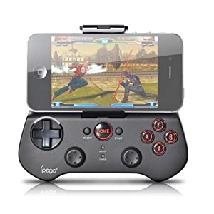 Kingsource (TM) Bluetooth Controller Android Wireless Game Controller Gamepad Joystick for iPhone/iPod/iPad/Android Phone/Tablet PC with retail package color black