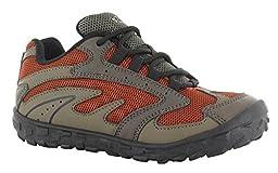 Hi-Tec Meridian JR Hiking Shoe (Toddler/Little Kid/Big Kid), Smokey Brown/Taupe/Red Rock, 5.5 M US Big Kid