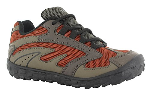 Hi-Tec Meridian JR Hiking Shoe (Toddler/Little Kid/Big Kid), Smokey Brown/Taupe/Red Rock, 5.5 M US Big Kid