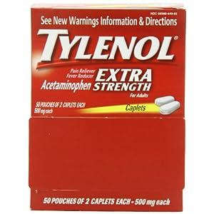 Tylenol Extra Strength Caplets, 100 Count