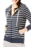 Pure Cotton Striped Hooded Tracksuit Top [T51-0753-S]