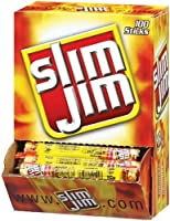 Slim Jim Smoked Snack Sticks, Original, 0.28-Ounce Sticks (Pack of 100) Reviews
