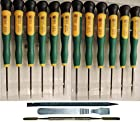 15 Piece Precision Electronics Screwdrivers & Spudger Pry Tool Set: Cell Phone, Apple iPhone iPad MacBook Pro & Air, Gaming System, Laptop Tablet Pad, Repair Kit w/T2 T3 T4 T5 T6 T8, PH00 PH000, Pentalobe 0.8 1.2, Tri-Wing, Micro Flat