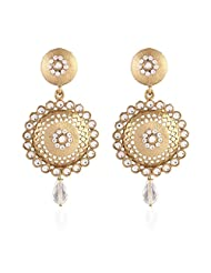 I Jewels Tradtional Gold Plated Elegantly Handcrafted Pair Of Fashion Earrings For Women. - B00N7IPDUY