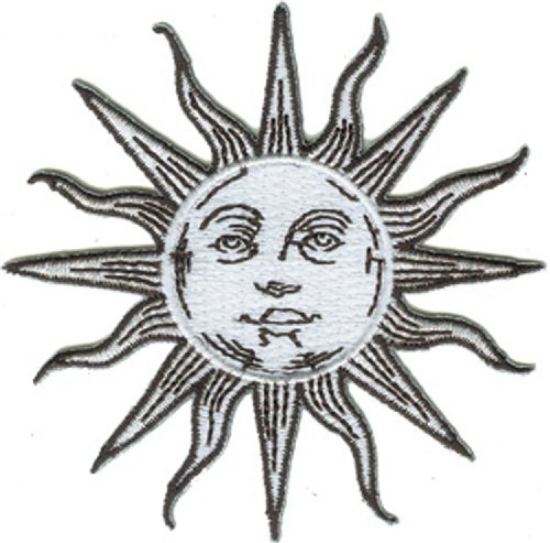 Application Sun, Moon and Stars Silver Patch