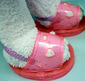 """Pink Jelly Heart Sandals Teddy Bear Clothes Fits Most 14""""-18"""" Build-a-bear, Vermont Teddy Bears, Animaland, Nanco, Ganz, Bear Mill, Teddy Mountain and More..."""