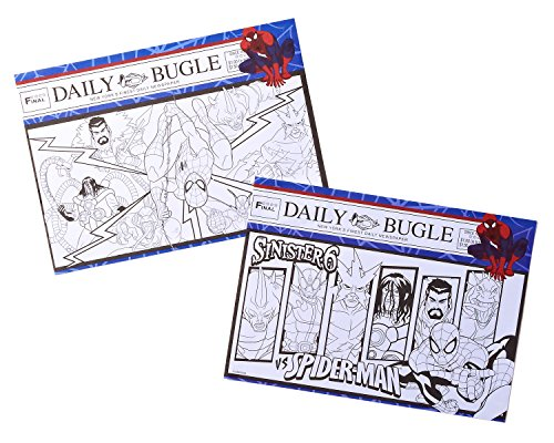 Spider-Man Coloring Placemats, 24 Count, Party Supplies