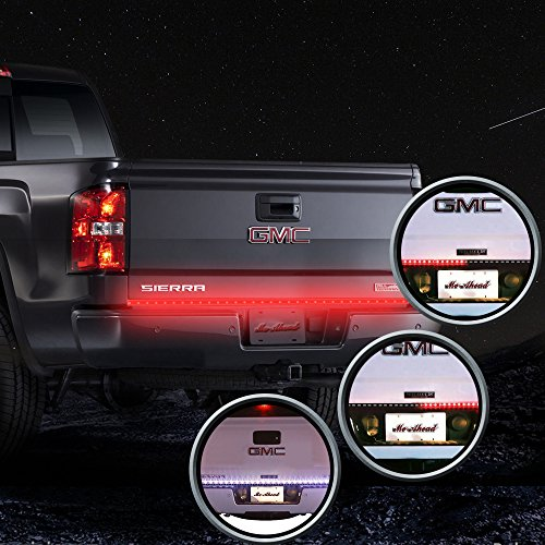MICTUNING 60 Inch Truck Tailgate Light Bar LED Red/white Reverse Turn Stop Tail Signal (60 Led Tail Light compare prices)