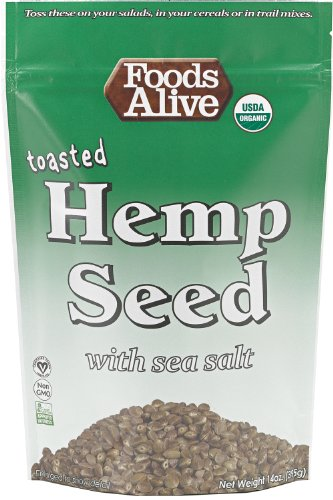 Foods Alive Organic Toasted Hemp Seeds with Sea Salt, 14-Ounce Bags (Pack of 3)