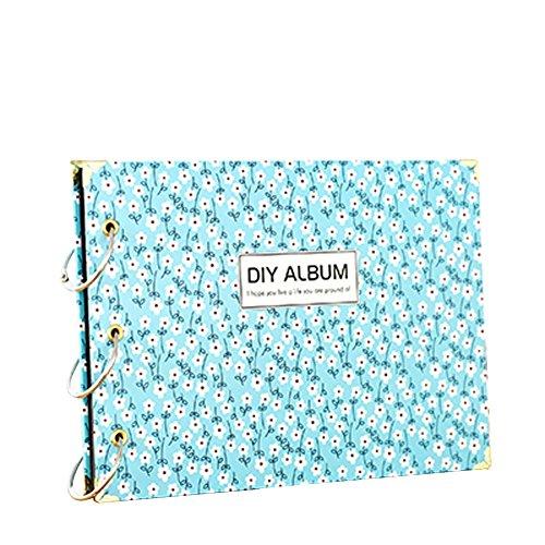 blaue blumen muster jahrestag scrapbook diy fotoalbum. Black Bedroom Furniture Sets. Home Design Ideas