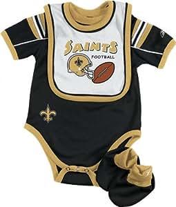Amazon New Orleans Saints Infant Creeper Bib And